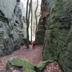 Berdorf pad door de rotsen april 2021